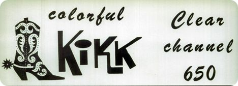 KIKK 650 AM (image courtesy of Tori Saltsman Mask of South Belt Houston Digital History Archive)
