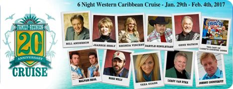 Country Family Reunion Cruise, Western Caribbean (Sunday 29 January 2017 - Saturday 4 February 2017)