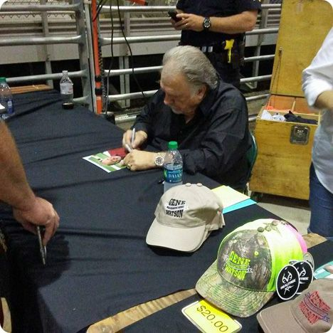 Gene Watson signing autographs, at Cumming Country Fair & Festival, Cumming Fairgrounds, 235 Castleberry Road, Cumming, GA 30040, following a performance on Tuesday 10 October 2017
