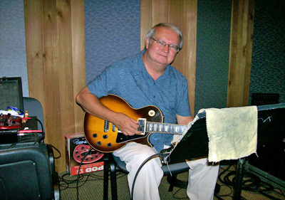 Gregg Galbraith at Curb Studios in Nashville during recording sessions for Gene Watson's 'In a Perfect World' (Shanachie Records, 2007) on Wednesday 30 May 2007