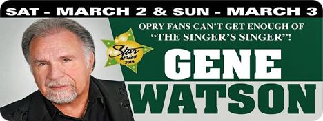 Gene Watson at Orange Blossom Opry, 16439 SE 138th Terrace, Weirsdale, FL 32195 on Saturday 2 March 2019 & Sunday 3 March 2019