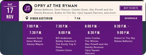 Gene Watson at The Grand Ole Opry, Ryman Auditorium, 116 5th Avenue North, Nashville, TN 37219 on Saturday 17 November 2018