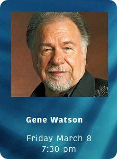 Gene Watson & The Farewell Party Band at Walhalla Performing Arts Center, 101 East North Broad Street, Walhalla, SC 29691 on Friday 8 March 2019