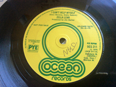 Zella Lehr: 'I Can't Help Myself' (written by Even Stevens and Eddie Rabbitt) (Ocean Records - United Kingdom - 1975)