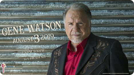 Gene Watson at The Plaza Theatre, 115 East Main Street, Glasgow, KY, 42141 on Saturday 3 August 2019