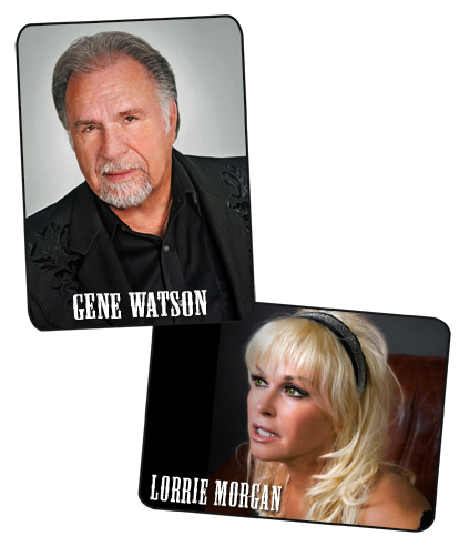 Gene Watson and Lorrie Morgan at Anderson Music Hall, Georgia Mountain Fairgrounds, Hiawassee, GA 30546 on Saturday 1 June 2019