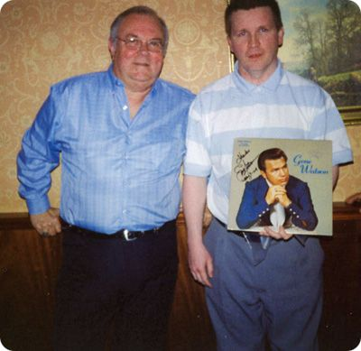 Sean Brady meets Jim Blackstock (piano player with Gene Watson's Farewell Party Band) in Park House Hotel, Edgeworthstown, County Longford, Republic of Ireland on Sunday 9 May 2004