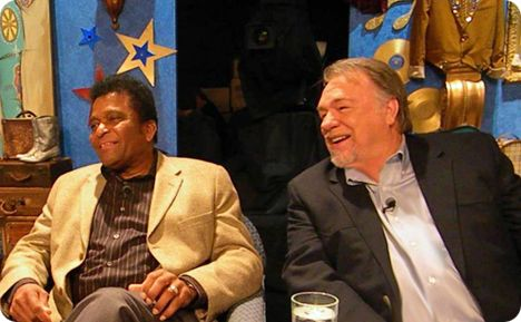 Charley Pride & Gene Watson participating in Bill Anderson's 50th Anniversary Celebration in Nashville during a television recording of 'Country Family Reunion' on Wednesday 6 October 2010
