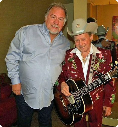 Gene Watson and Little Jimmy Dickens backstage at The Grand Ole Opry in Nashville on Friday 6 November 2009