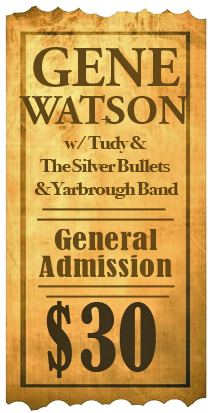 Gene Watson at City of Truth or Consequences Civic Center, 505 Sims, Truth or Consequences, NM 87901 on Saturday 6 May 2017 / Sponsored by KCHS 101.9FM