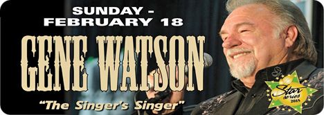 Gene Watson at Orange Blossom Opry, 16439 SE 138th Terrace, Weirsdale, FL 32195 on Sunday 18 February 2018