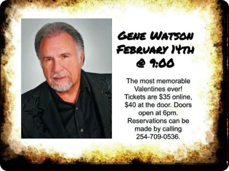Gene Watson at 5J Dance Hall, 31727 W HWY 84, McGregor, TX 76657 on Friday 14 February 2020