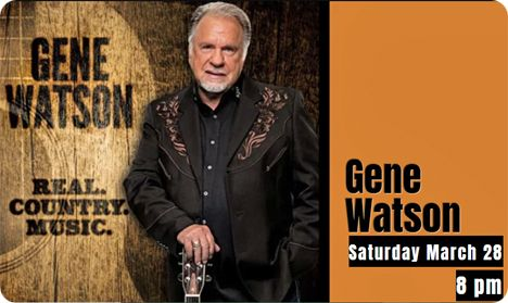 Gene Watson at Music City Texas Theater, 108 Legion Street,  Linden, TX 75563 on Saturday 28 March 2020