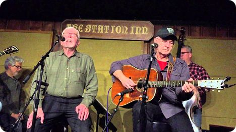 Jim Rushing guesting at Station Inn, with New Monday, singing 'Thanks Again' (written by Jim Rushing), in Nashville on Monday 21 December 2015, with Carl Jackson, Larry Cordle, Doug Jernigan, Mike Bub, Chris Walters, Larry Atamanuik and Eli Bishop