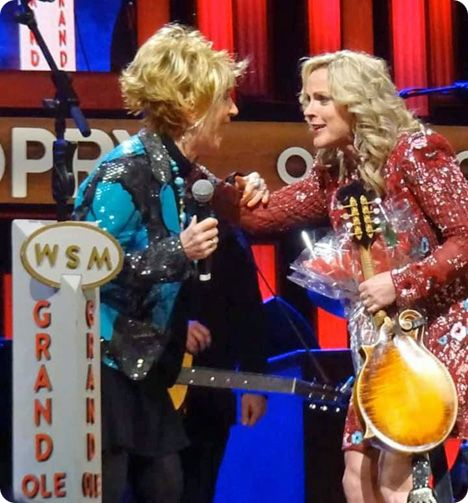 On Friday 28 February 2020, Rhonda Vincent received an invitation, from Jeannie Seely, to join The Grand Ole Opry in Nashville, as the next official member