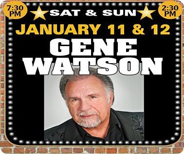 Gene Watson at Orange Blossom Opry, 16439 SE 138th Terrace, Weirsdale, FL 32195 on Saturday 11 January 2020 and Sunday 12 January 2020