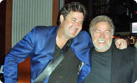 Gene Watson and Vince Gill backstage at The Grand Ole Opry in Nashville on Thursday 2 April 2009