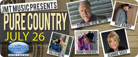 Gene Watson, Jeannie Seely, Moe Bandy, Johnny Rodriguez and Dallas Wayne at Wagner Noel Performing Arts Center, 1310 N. FM 1788, Midland, TX 79707 on Thursday 26 July 2018